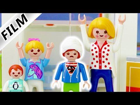 Playmobil Film deutsch | Julian hat GEHIRNERSCHÜTTERUNG | Wieder in der Kinderklink! Kinderserie