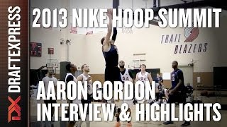 Aaron Gordon - 2013 Nike Hoop Summit - Interview & Practice Highlights