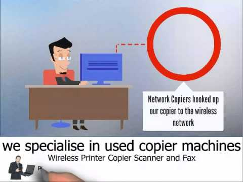 Wireless Network Copier Printer Scanner Fax Machines