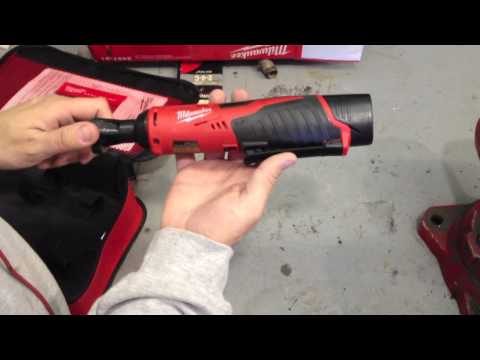 "The Milwaukee M12 Cordless 3/8"" Ratchet Kit 2457-21 In Action"