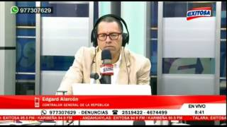 Contralor Edgar Alarcón en comunicación telefónica con Radio Exitosa