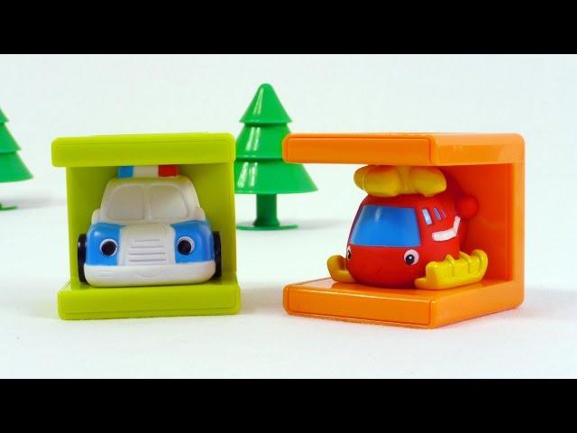 Мультфильм про полицейскую машину и ее друзей - развивающее видео - игрушки кубики