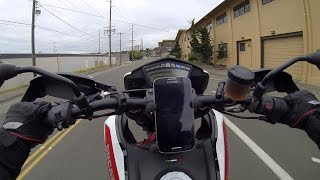 8. 2014 Ducati Hypermotard SP wheelies, curb jump, awesome twisties
