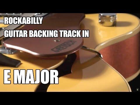 Rockabilly Guitar Backing Track In E Major