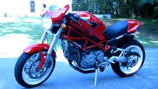 10. 2005 Ducati Monster S2R 800 with Carbon Arrow Exhaust in Red with White Wheels