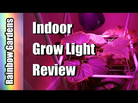 15 Watt Indoor LED Vegetative Grow Light Review & Cucumber Tower | INDOOR GARDEN (видео)