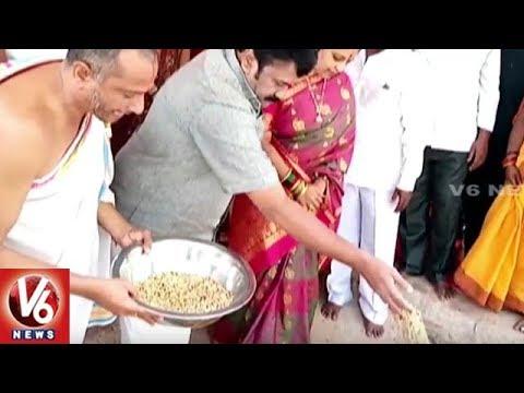 Minister Talasani Srinivas Yadav Lays Foundation Stone For Konda Pochamma Temple Building