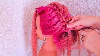 прически на средние волосы узату
