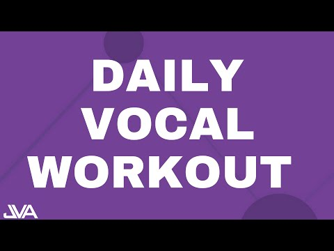 Daily Vocal Workout For An Awesome Singing Voice