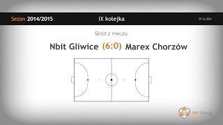 Nbit Gliwice – Marex Chorzów (9 kolejka) - skrót