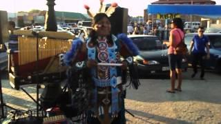 Выступление индейца на площадке Соль-Илецк курорта, 2014 г.