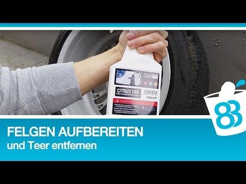 Felgen aufbereiten und Teer entfernen - Felgenreiniger Test und Autopflege Tutorial