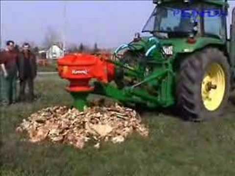 John Deere 8100 stump grinder. For some reason this is very satisfying to watch.