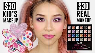 Video $30 Kid's makeup VS $30 Real Makeup MP3, 3GP, MP4, WEBM, AVI, FLV November 2018
