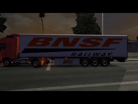 BNSF trailer white