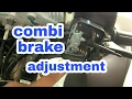 How to adjust combi brake system | Honda aviator
