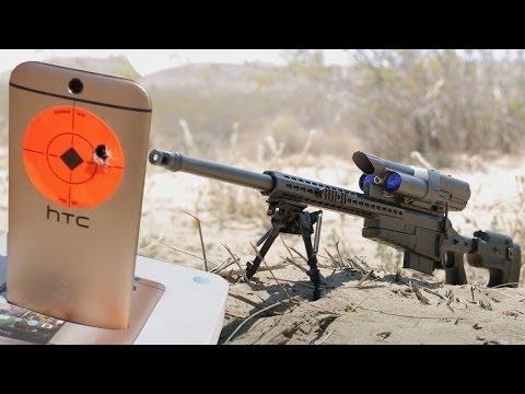 Streljanje mobilnega telefona na en kilometer s pametno puško