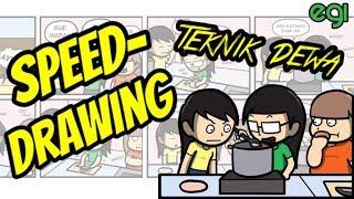 Video Speed Drawing: Teknik Masak Tingkat Dewa (also talking about Siapa inspirasi gue nge-Youtube?) MP3, 3GP, MP4, WEBM, AVI, FLV Oktober 2017