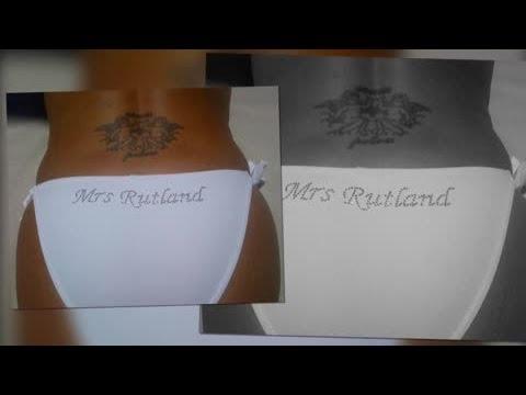 Tamara Ecclestone Shows Off Customised Mrs Rutland Bikini Bottoms - Splash News