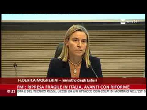 Tensioni in Iraq: intervento ministro Federica Mogherini su Rai News 24