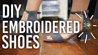 Here's a pretty easy one today, guys! I made a pair of easy to do, cute embroidered shoes! Stay tuned on Tuesdays for art videos,...