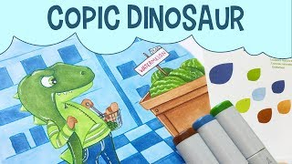 "Copic Sketch Dinosaur Art  Free Dinosaur Coloring PageFree dinosaur coloring page can be found here: https://www.flickr.com/photos/44731527@N02/34959204680/in/dateposted-public/Today I'm coloring a dinosaur with copics! In particular, I'm only using the Earth Essentials copic marker set, to see if I can color the dinosaur art with just those six colors included. This dinosaur children's illustration can be downloaded to color yourself by following the link at the top of this description to my free dinosaur coloring pages. Did you like how it turned out? Let me know by giving it a thumbs up!Subscribe to peer into a day in the life of a freelance illustrator, and share if you care! :)Last Video: https://www.youtube.com/watch?v=CceYk1DynssShop here: https://www.etsy.com/your/shops/pigknit/tools/listings/section:19896210------------------------------------------------------------------------------------------Art Materials Used in This Video: Paper: https://www.amazon.com/gp/product/B000J0C47S/ref=as_li_tl?ie=UTF8&camp=1789&creative=9325&creativeASIN=B000J0C47S&linkCode=as2&tag=pigknit-20&linkId=e4cd035a0224c1a0446c2703e983d794Gelly Roll gel pen in white: https://www.amazon.com/gp/product/B00CF5R57Y/ref=as_li_tl?ie=UTF8&camp=1789&creative=9325&creativeASIN=B00CF5R57Y&linkCode=as2&tag=pigknit-20&linkId=0ea5af48bd3ed91854950efe9a964c92""Earth Essentials"" Copic Sketch Markers: https://www.amazon.com/gp/product/B00AHJ225U/ref=as_li_tl?ie=UTF8&camp=1789&creative=9325&creativeASIN=B00AHJ225U&linkCode=as2&tag=pigknit-20&linkId=7c1b8bb10bbad37991a6674809006f7dStaedtler Fineliner Colored Pens: https://www.amazon.com/gp/product/B00016XNT8/ref=as_li_tl?ie=UTF8&camp=1789&creative=9325&creativeASIN=B00016XNT8&linkCode=as2&tag=pigknit-20&linkId=eb166064530686264a18cc1ef2011242------------------------------------------------------------------------------------------Filming Equipment Used:Canon Powershot S110: https://www.amazon.com/gp/product/B009B0MYSQ/ref=as_li_tl?ie=UTF8&camp=1789&creative=9325&creativeASIN=B009B0MYSQ&linkCode=as2&tag=pigknit-20&linkId=61eb3228c57da1bd4d00fcc98809a720Manfrotto Mini Tripod: https://www.amazon.com/gp/product/B00GUND8XM/ref=as_li_tl?ie=UTF8&camp=1789&creative=9325&creativeASIN=B00GUND8XM&linkCode=as2&tag=pigknit-20&linkId=0606a7ba650f0ff2862dc287e3459864Blue Snowball Microphone:https://www.amazon.com/gp/product/B006DIA77E/ref=as_li_tl?ie=UTF8&camp=1789&creative=9325&creativeASIN=B006DIA77E&linkCode=as2&tag=pigknit-20&linkId=573fe459c7397c6e3b9adaa488738209OttLite Task Lamp: https://www.amazon.com/gp/product/B004Q0CUXA/ref=as_li_tl?ie=UTF8&camp=1789&creative=9325&creativeASIN=B004Q0CUXA&linkCode=as2&tag=pigknit-20&linkId=8a48246dca0974ec6a6a5c02ae22acc8------------------------------------------------------------------------------------------Background Music: https://soundcloud.com/mitsutoshi-kiyono/pz024-squirrel------------------------------------------------------------------------------------------Etsy:  https://www.etsy.com/shop/pigknitwww.pigknit.comFacebook: https://www.facebook.com/pigknit/Twitter: https://twitter.com/pigknitTumblr: https://www.tumblr.com/blog/pigknitInstagram: @pigknitSnapchat: PigknitThanks for watching!"