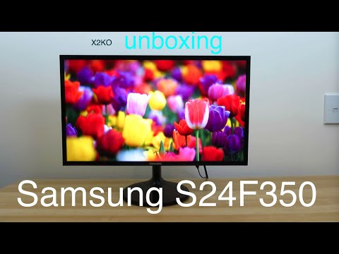Samsung S24F350 unboxing and setup