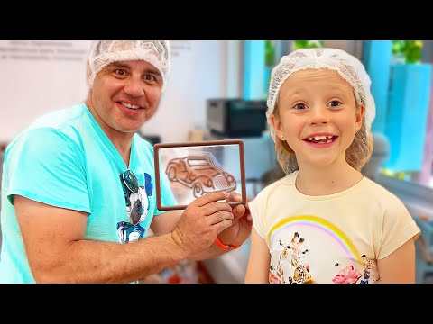 Nastya and dad went on a cocoa tour to know how chocolate is made. Useful video for kids