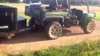 8. JD GATOR 855d pulls heavy trailer atleast 3000 lb