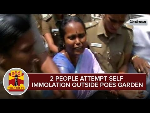 2-including-a-Woman-attempt-Self-Immolation-outside-Poes-Garden-against-AIADMK-Candidate