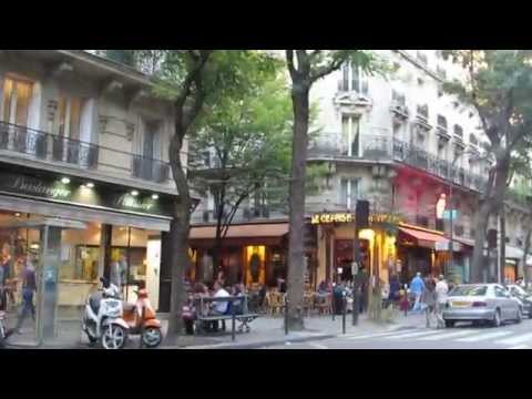 Walking along the Rue Caulaincourt in the Montmartre  district in Paris 2