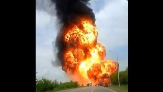 Момент взрыва фуры в Ставрополе