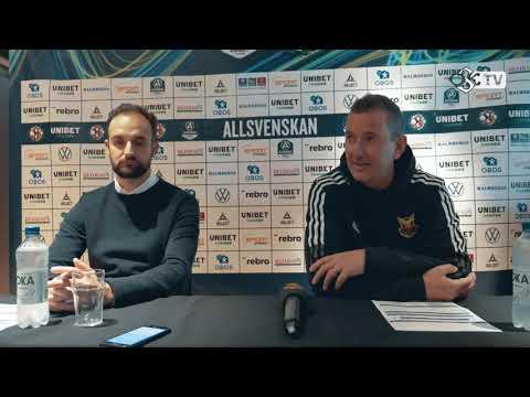Presskonferens efter ÖSK - Östersunds FK