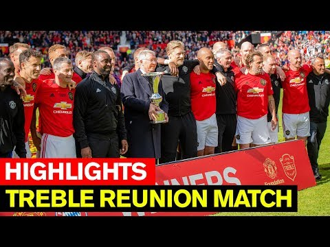 Treble Reunion Match | Manchester United v FC Bayern Legends | Highlights | Beckham, Neville, Butt