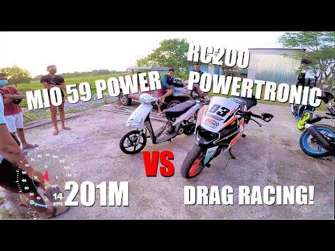 Yamaha Mio 59mm VS KTM RC200 Powertronic