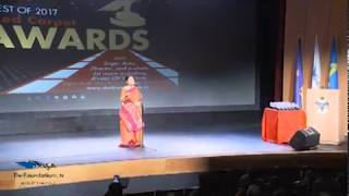 Shuchita Rao Opens The Foundations TV Red Carpet Awards Ceremony with a Krishna Bhajan