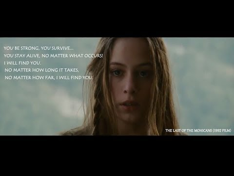 THE BEST SCENE    The Last of the Mohicans 1992 film
