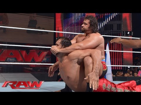 Video The Great Khali vs. Rusev: Raw, July 21, 2014 download in MP3, 3GP, MP4, WEBM, AVI, FLV January 2017