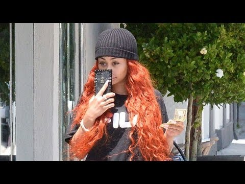 Redheaded Blac Chyna Hides Her Face When Asked If It's True Rob Kardashian Weighs 300 Lbs