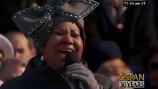 Aretha Franklin sings at President Barack Obama's 2009 Inauguration (C-SPAN)