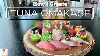 How I Create A Tuna Omakase Plate Step By Step   How To Make Sushi Series by Diaries of a Master Sushi Chef