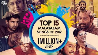Video Top 15 Malayalam Songs of 2017 with Callertune codes | Best Malayalam songs of 2017 | Official MP3, 3GP, MP4, WEBM, AVI, FLV April 2019