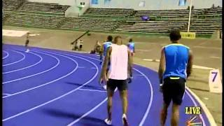 UTECH CLASSIC 2011 - Kemar Bailey-Cole Winning Men Inv 100m @ Utech Classic.mp4