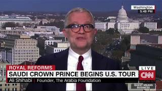 Ali Shihabi discusses MBS visit to US on CNNi's Quest Means Business