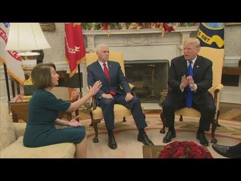 USA: Lautstarker Streit im Oval Office wegen Trumps Mauer vor laufenden Kameras
