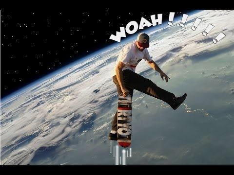 Best Trampoline Use Ever! Dancing On Ledges In Space!