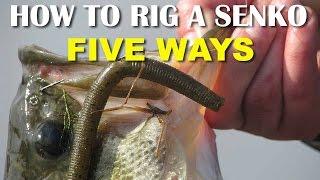 Video How To Rig A Senko 5 Ways | Bass Fishing Tips MP3, 3GP, MP4, WEBM, AVI, FLV Oktober 2018