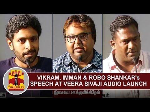 Vikram-Prabhu-Imman-Robo-Shankars-Speech-at-Veera-Sivaji-Audio-Launch-Thanthi-TV
