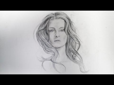 ✎ PORTRAIT ZEICHNEN IM ZEITRAFFER #2  portrait speed painting