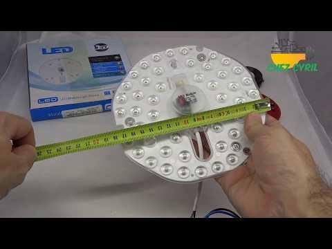 Un éclairage LED secteur forte puissance pour remplacer les ampoules d\'un plafonnier existant